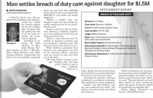 Power of Attorney Abuse Settlement